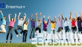 ErasmusPlus - young people jumping in the air
